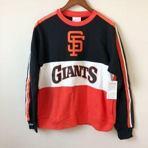 Mitchell & Ness Fleece Crew SF Giants
